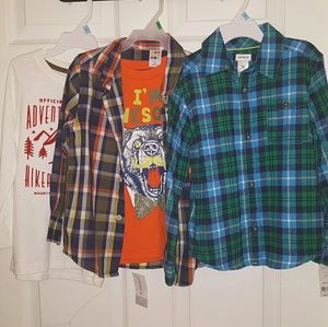 NWT Boys Lot 3 Long Sleeve Shirts